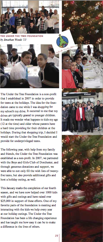 Jonathan Woods | Under the Tree Foundation | Tabor 2013