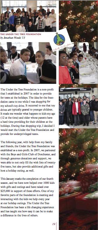 Jonathan Woods | Under the Tree Foundation | Tabor 2013
